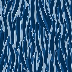 Zebra pattern classic blue