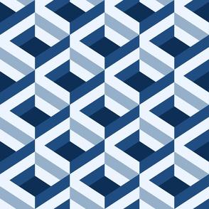 Classic Blue Criss-Cross
