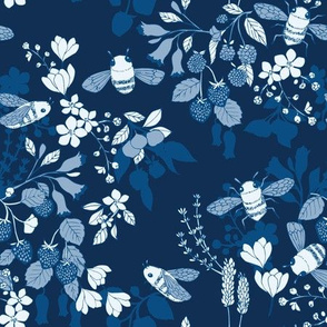 A Garden for Bees {Classic Blue}