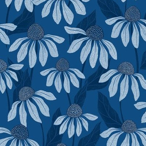 Classic Blue Echinacea Large-Scale Floral
