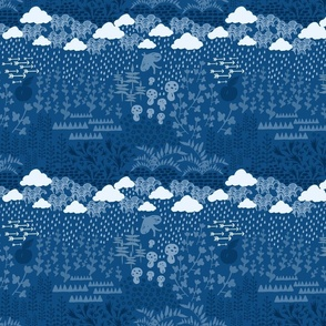 Blue Midnight Rain