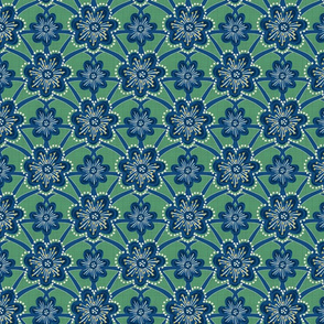 Starburst Floral - Green - Medium