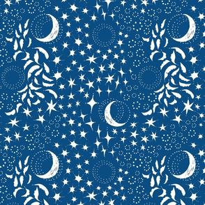 Moon Among the Stars -  Classic Blue Version -Medium Scale