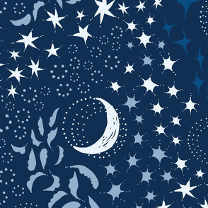 Moon Among the Stars - Blues - Large Scale
