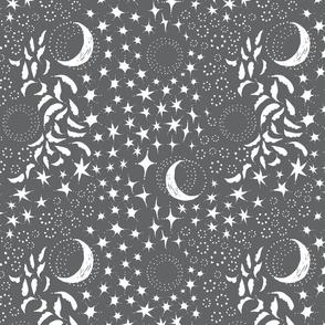 Moon Among the Stars - Medium Grey