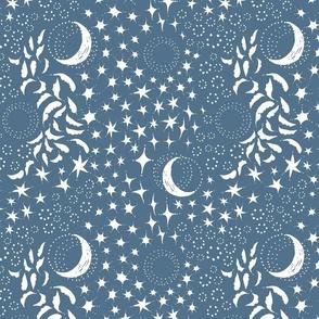 Moon Among the Stars -  Serenity Blue