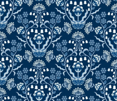 GRACEFUL CLASSIC BLUE  DAMASK