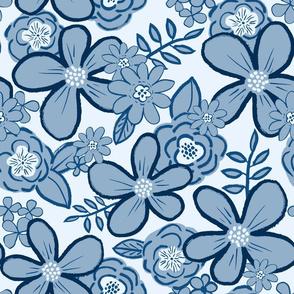 LCP Blue toned Floral, XL