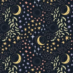 Moon Among the Stars - Pastel Version