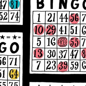 bingo - large scale black