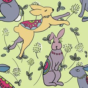 Rabbits in clover-lg