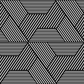 cadence triangles - geometric - black and white - LAD20