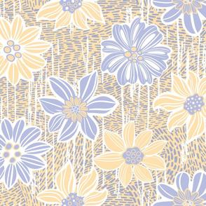 Pastel vintage flowers