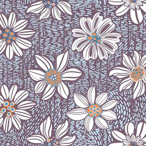 Vintage flowers meadow