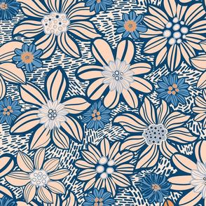 Creamy vintage flowers