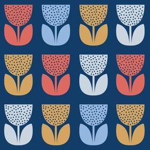 Flower Pattern: Poppy: Coastal