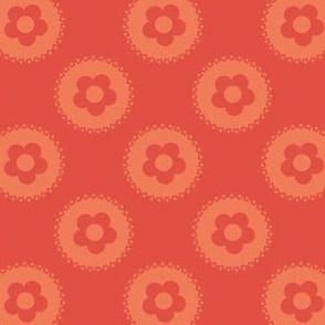 Blauwe folklore flower