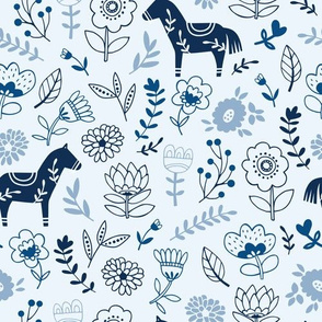 Folk Horse blue
