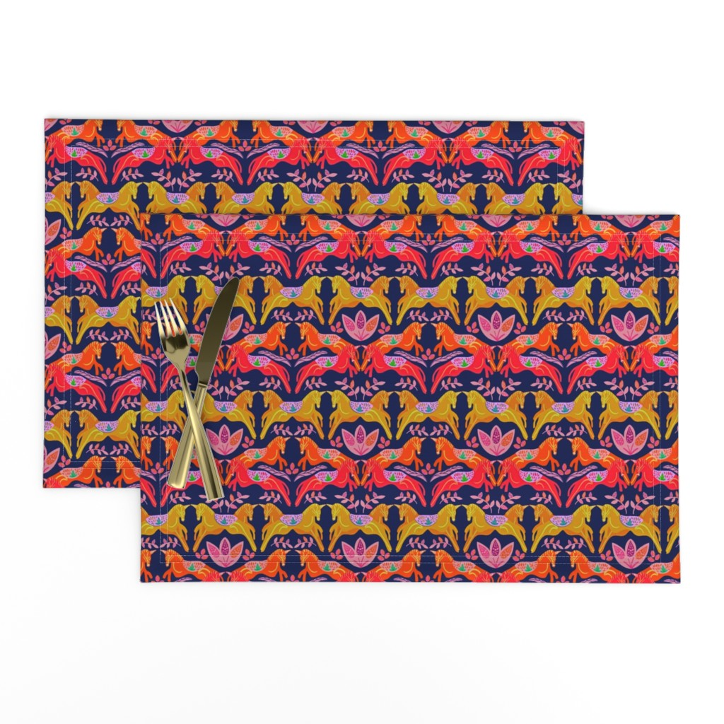 Lamona Cloth Placemats featuring Unicorns by susan_polston