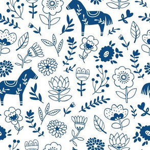 Classic Blue Folk Horse