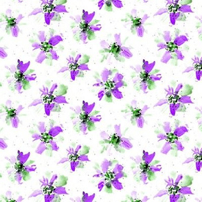 whimsical amethyst florals - watercolor flowers p257