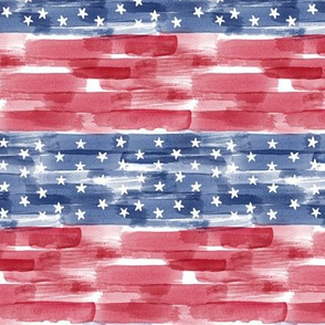 Stars and Stripes - american flag - watercolor (90) - LAD20