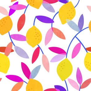 Rainbow Lemon Pattern
