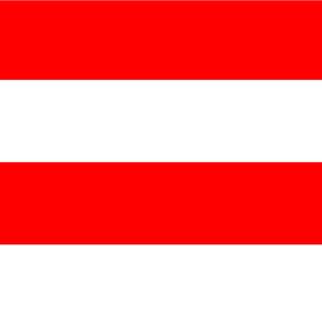 Giant Stripe Red and White Horizontal