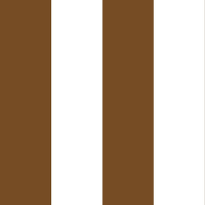 Giant Stripe Brown and White Vertical
