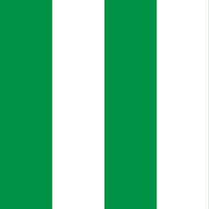 Giant Stripe Green and White Vertical
