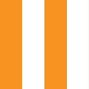 Giant Stripe Orange and White Vertical