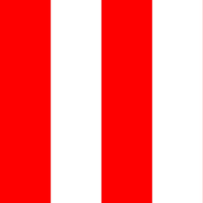 Giant Stripe Red and White Vertical