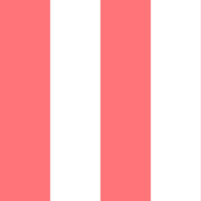 Giant Stripe Pink and White Vertical