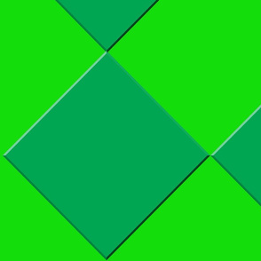 Dark Green Diamonds on a Light Green Background