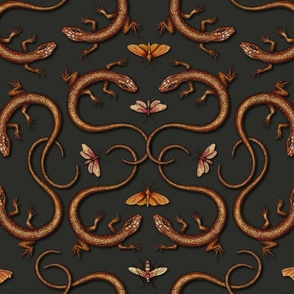Lizards, Moths & Insects - Reptile Pattern