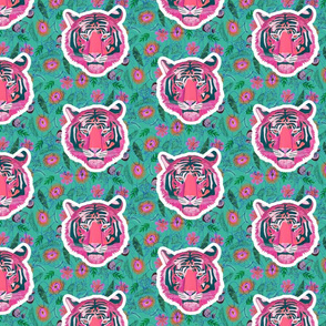 Pink Tigers Aqua Small Scale