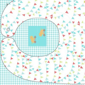 Baby bibs sewing pattern template