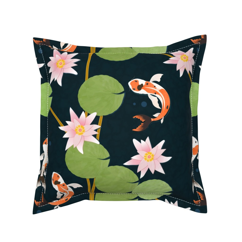 Serama Throw Pillow featuring that pond life by flossiesgrand