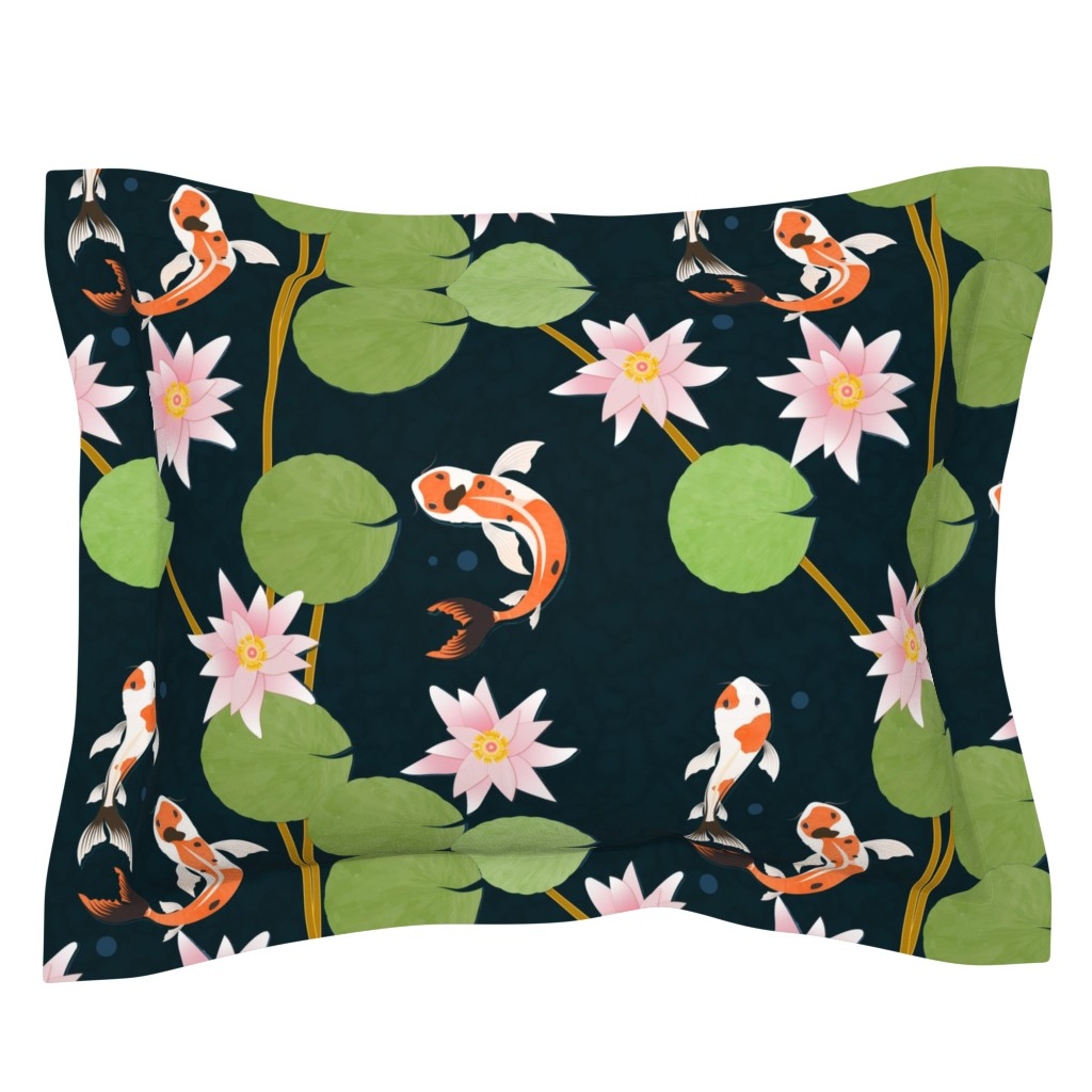 Sebright Pillow Sham featuring that pond life by flossiesgrand