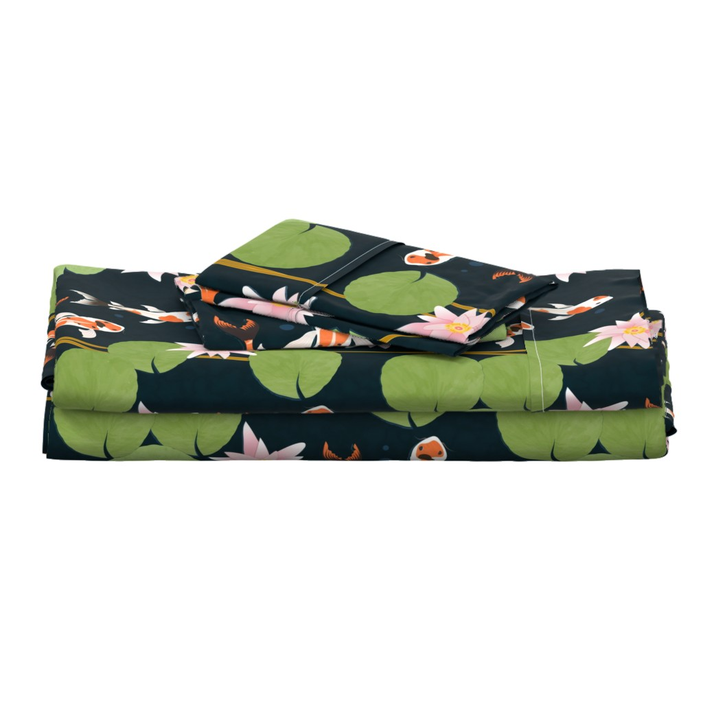 Langshan Full Bed Set featuring that pond life by flossiesgrand