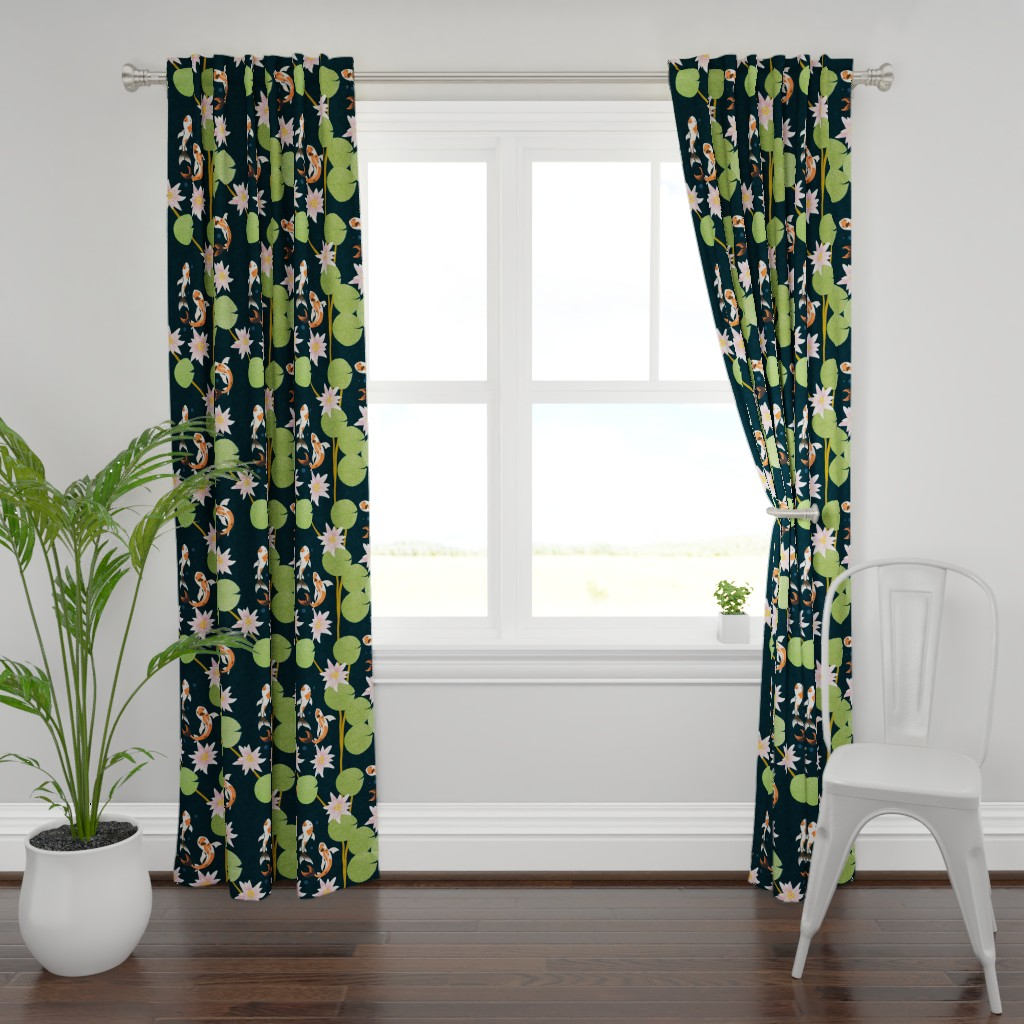 Plymouth Curtain Panel featuring that pond life by flossiesgrand