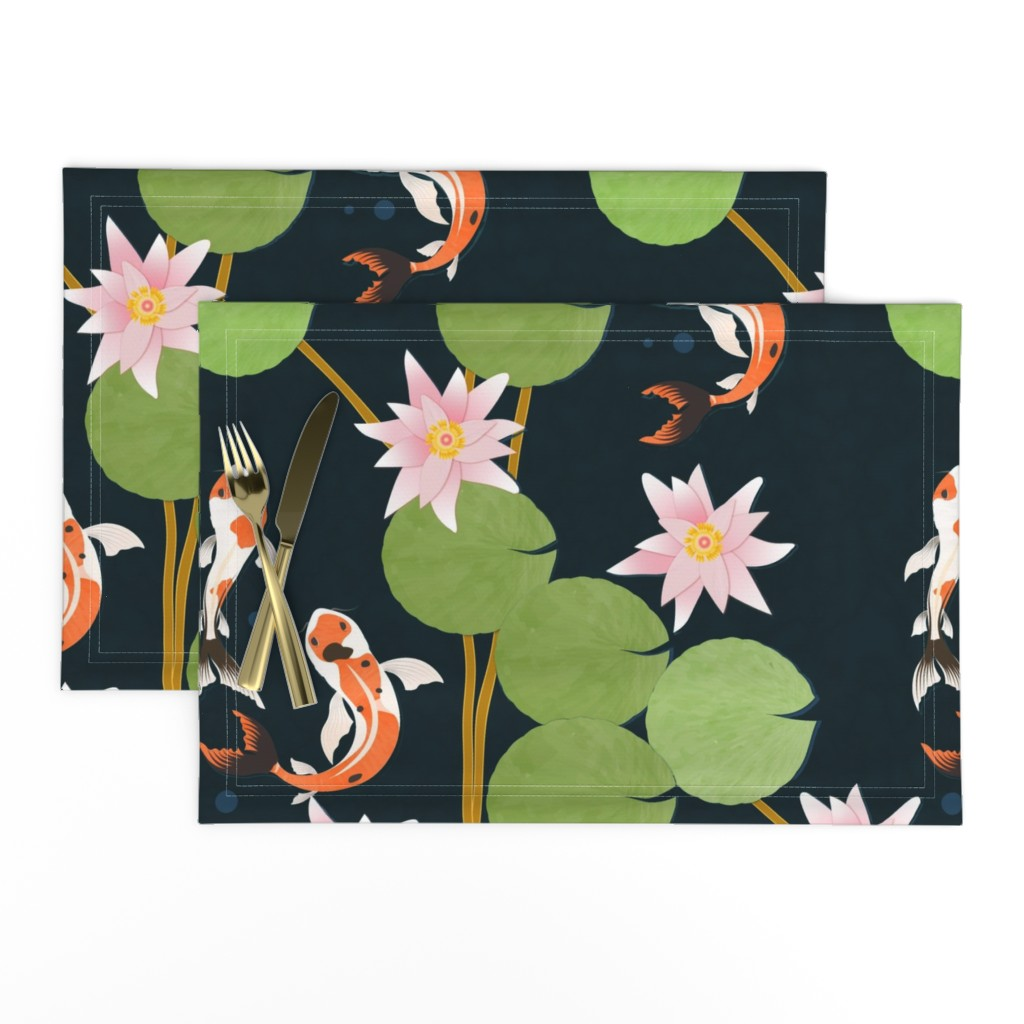 Lamona Cloth Placemats featuring that pond life by flossiesgrand