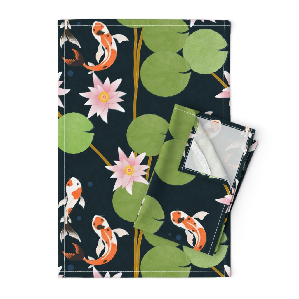 Orpington Tea Towels featuring that pond life by flossiesgrand