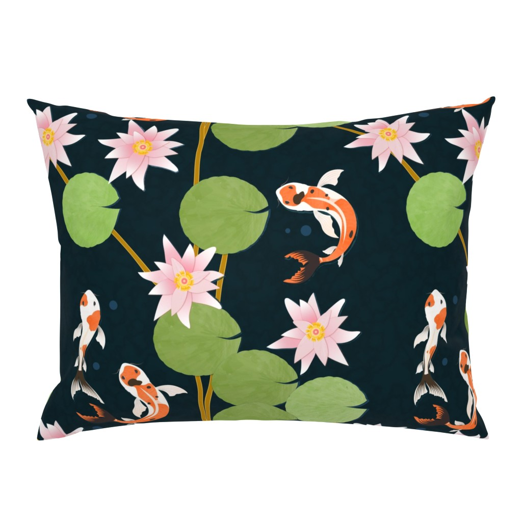 Campine Pillow Sham featuring that pond life by flossiesgrand