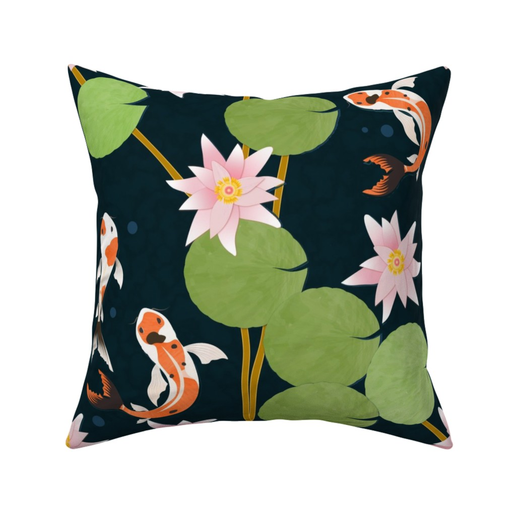 Catalan Throw Pillow featuring that pond life by flossiesgrand