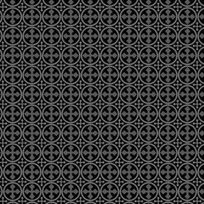 Greek Circle Cross in Black