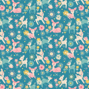Darling Deer and Daisies (small size)