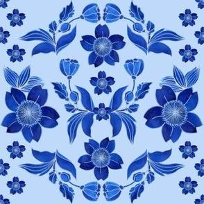 Blue flowers 4