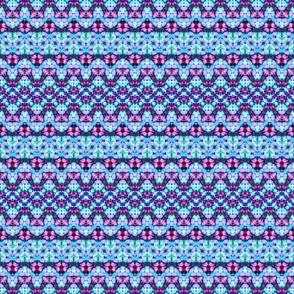 Blue, Pink & Purple Boney Zigzags