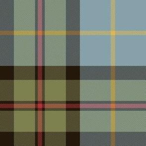 "MacLeod of Assynt tartan, olive variant, 8"""
